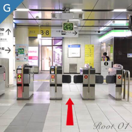 地下鉄でお越しの方のグレイスホテルまでのルート写真01