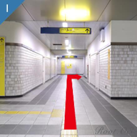 地下鉄でお越しの方のグレイスホテルまでのルート写真03
