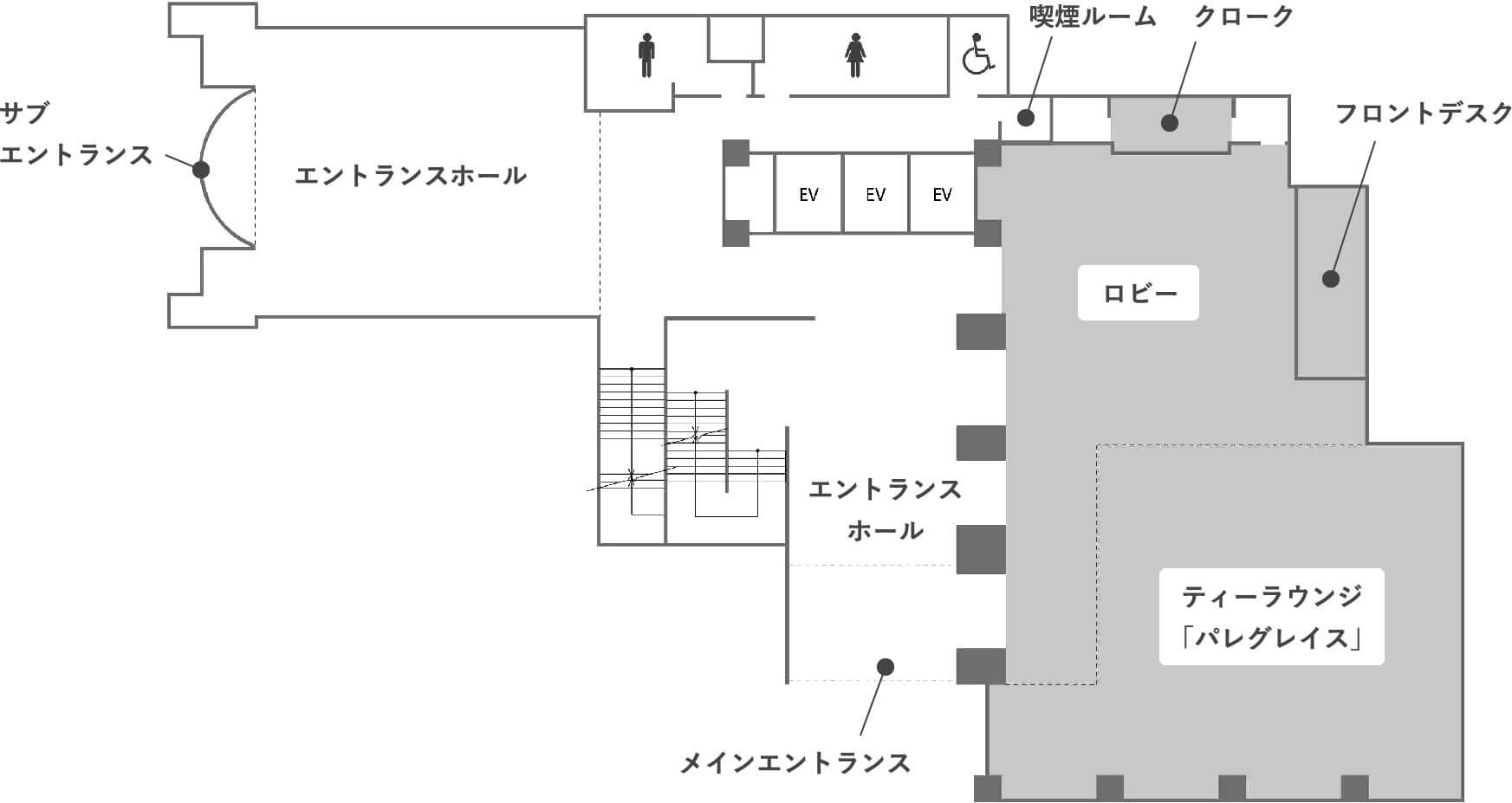 1階のフロアマップ画像