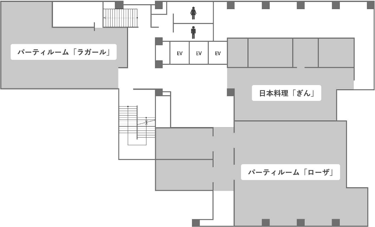 地下1階のフロアマップ画像